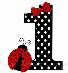 Baby Ladybug, Ladybug Party, 1st Birthday Decorations, Birthday Crafts, Alphabet Art, Alphabet And Numbers, Painting Wooden Letters, Ladybug Crafts, One Year Birthday