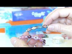 Tuto Bracelet Wrap petites fleurs avec le métier à tisser WRAPIT - YouTube