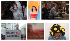 """[caption id=""""attachment_50208"""" align=""""alignnone"""" width=""""600""""] Images, left to right, top and bottom: Sarah O'Donoghue, Auntie, 2016; Brea Soul, Liberation 2, 2017; Nevada Tyler, Capital Jim, 2017; Bo Chen, We Are All American, 2017; Christine Stoddard, Autumnal Death, 2016; Sydney Gray, Flower…"""