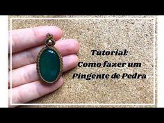 Tutorial: Modelo de Pingente de Macramê com Pedra. #35