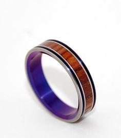 Princess Leia Wooden Wedding Rings by MinterandRichterDes on Etsy