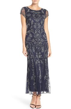 Pisarro Nights Embellished Mesh Gown | Nordstrom Mob Dresses, Formal Dresses For Women, Dressy Dresses, Petite Dresses, Elegant Dresses, Beaded Dresses, Gatsby Dress For Sale, Great Gatsby Dresses, 1920s Dress