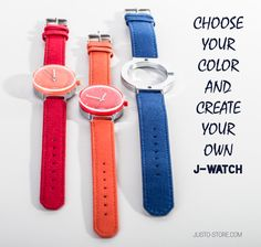 Choose and create your own watch. Summer collection available online :)