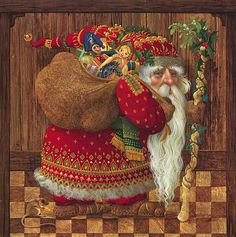 Old World Santa~J. Christensen  I love Christensen's art, but this is one of my all-time favorite pieces of his work.