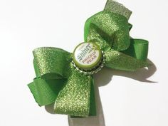 Prickly Pear Shiner Beer Bottlecap Bow, Green bows, Adult bars, Bear bottlecaps, Bottlecap bows, Christmas bows, holiday bows, gag gifts, by bowsngifts on Etsy