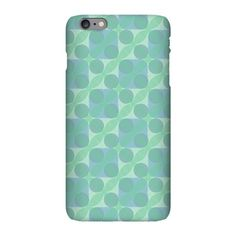 iPhone Plus 6 Slim Case with pattern Transparent Light Green (pattern #3024)