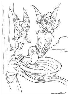 Tinker Bell Fawn Coloring Pages
