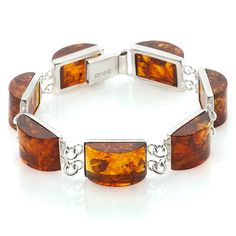 Age of Amber Honey Amber Linked Sterling Silver Bracelet Coral Jewelry, Amber Jewelry, Unique Jewelry, Silver Jewelry, Jewelry Design, Big Jewelry, Amber Bracelet, Ivoire, Diy Jewelry Making