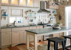 modern städtisch küche bereich Kücheninsel mit Sitzplätzen