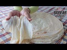 📢TAP TAZE YUFKA🌠 2 KİLO UNDAN 65 ADET😲 EVDE YAPILDIĞINA KİMSE İNANMAYACAK 💯AYLARCA BUZLUKTA SAKLAYIN - YouTube Bread Recipes, Food And Drink, Favorite Recipes, Baking, Pizza, Desserts, Youtube, Turkish Recipes, Apple Pie Cake