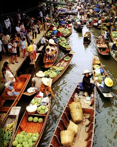 Floating Market, Thailand - Explore the World with Travel Nerd Nici, one Country at a Time. http://TravelNerdNici.com