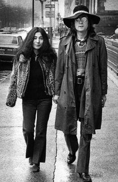 John Lennon and Yoko Ono, 1973