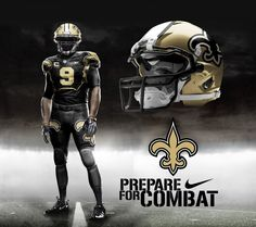 New Orleans Saints Nike Pro Combat Away Alternate Uniform New Orleans Saints Away Alt Football Uniforms, Sports Uniforms, Nfl Jerseys, Football Helmets, Team Uniforms, New Orleans Saints Football, Football Awards, Nfl Football, Football Stuff