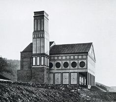 Crematorium in Hagen-Delstern, Germany, Peter Behrens, 1906