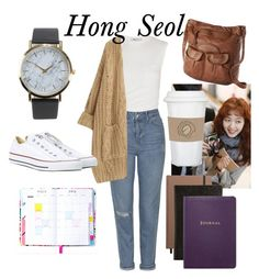 """""""Hong Seol -> Cheese in the Trap"""" by whinybanana on Polyvore featuring Alexander Wang, Topshop, Mudd, NLY Accessories, Chicnova Fashion, Converse, Shinola and Smythson"""