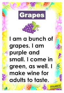 Reading passages about fruits. Fruits passages include banana, apple, watermelon, orange and grapes. Read and have fun with these colorful. English Poems For Kids, English Activities For Kids, Learning English For Kids, English Worksheets For Kids, English Lessons For Kids, Kids English, Learn English Words, Reading Comprehension For Kids, Phonics Reading