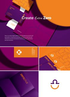 Zero+ is an online platform that aims to make it easier for influncers to manage their business and help brands and companies establish partnerships with those celebrities as well. Corporate Identity Design, Brand Identity Design, Graphic Design Branding, Brochure Design, Identity Branding, Visual Identity, Game Design, Design Design, Japanese Graphic Design