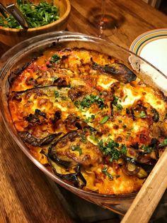 Auberginegratäng med mozzarella, ruccola och tomatsås | Jävligt gott - vegetarisk mat och vegetariska recept för alla, lagad enkelt och jävligt gott.