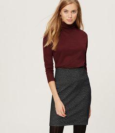 Primary Image of Petite Mosaic Pull On Skirt