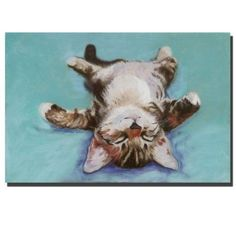 Trademark Fine Art Little Napper by Pat SaundersWhite Canvas Wall Art 24x36Inch >>> Click on the image for additional details.Note:It is affiliate link to Amazon. #black