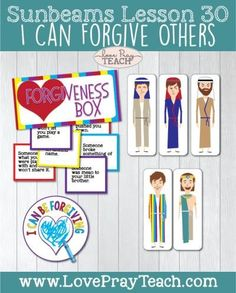 """Primary 1 Sunbeams Lesson 30: """"I Can Forgive Others"""" - Love Pray Teach"""