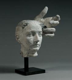 Rodin, Assemblage - Mask of Camille Claudel and Left Hand of Pierre de Wissant, c. 1895