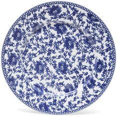 One Kings Lane 11 Vine Plate - Blue/White