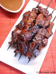 The Dutch Table: Saté Babi (Indonesian Pork Satay)