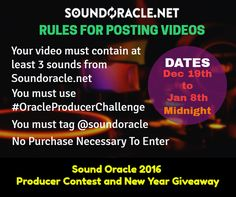 #ProducerContest rules for posting videos for the #OracleProducerChallenge