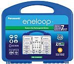 #Walmart: Panasonic Eneloop Rechargable Batteries 8AA 2AAA 2 C Spacers 2 D Spacers Charger $28 #LavaHot http://www.lavahotdeals.com/us/cheap/panasonic-eneloop-rechargable-batteries-8aa-2aaa-2-spacers/88907
