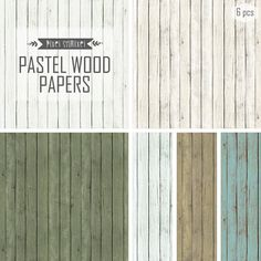 Pastel Wood Paper Digital Distressed Wood Paper by PixelShmixel, $2.39