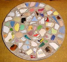 Recycled Garden Stepping Stones