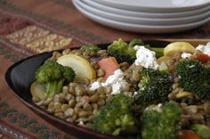 We're trying to eat at least one vegetarian dinner per week without losing flavor. We really like the blending of these flavors. You'll never even miss the meat! Serves 4.    Part of the Swedish Healthy Recipes collection (heart healthy, recipe).