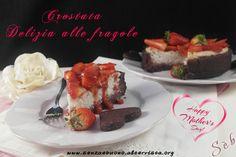 Crostata Delizia alle fragole #senzaglutine, con farine naturali,  #vegan #senzasoia #senzalievito simile a una cheesecake ma senza cheese ;-) http://senzaebuono.altervista.org/delizia-alle-fragole-senza-glutine-vegan/