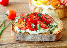 heirloom tomato bruschetta.