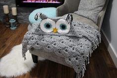 Amazing Crochet Owl Hooded Blanket Pattern
