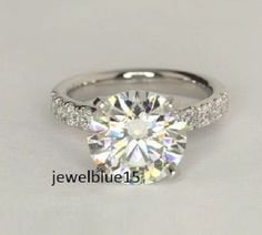 2.98 Ct Rose Cut Oval Near White Moissanite Engagement Ring 925 Sterling Silver
