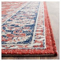 Artisan Rug - Rust/Navy (Red/Blue) - (8'x10') - Safavieh, Durable