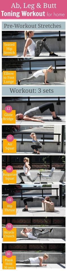 6 Ab and Butt Toning 6 Ab and Butt Toning Exercises For Women To Get Toned At Home https://www.pinterest.com/pin/142285669454974200/