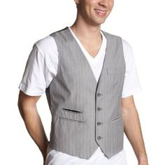 Perry Ellis Men's Pinstriped Vest (Apparel)