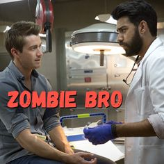 "iZombie -- ""Zombie Bro"" -- Image Number: -- Pictured (L-R): Robert Buckley as Major and Rahul Kohli as Ravi -- Photo: Jack Rowand/The CW -- © 2015 The CW Network, LLC. All rights reserved. Shoe Stores Near Me, Kids Shoe Stores, Rob Thomas, The Cw, Old Fashioned Boy Names, I Zombie, Kids Clothes Sale, Kids Clothing, Television Program"
