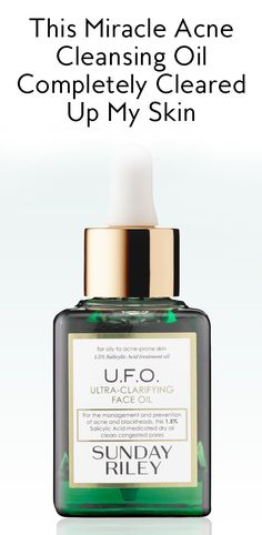 Sunday Riley U.F.O facial oil is the best thing to happen to your breakouts—AKA you will see a difference in your skin, literally overnight.