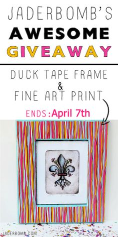 Easy Duck Tape Frame Tutorial and Giveaway #candicealexander #theduckbrand #ducktape