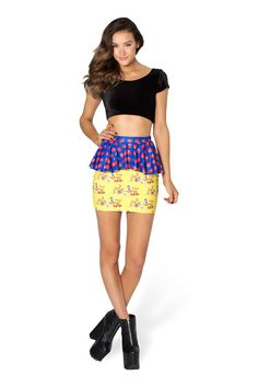 Snow White Peplum Skirt by Black Milk Clothing $70AUD