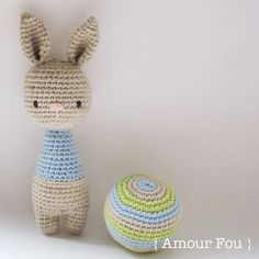 { Amour Fou | Crochet }: Bunny Rattles
