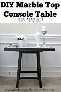 Diy Marble Top Table From A Barstool Furniture Easyfurniture