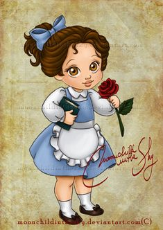 Child Belle by moonchildinthesky.deviantart.com on @deviantART, soo cute