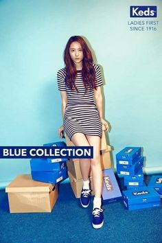 More photos revealed of Krystal looking cute and trendy in 'Keds' | http://www.allkpop.com/article/2016/03/more-photos-revealed-of-krystal-looking-cute-and-trendy-in-keds