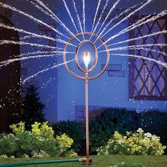 Solar Powered Lantern Lawn Sprinkler Automatic Shines with White Light at Night #LawnSprinkler #SolarPowered #Lantern #Lawn #Sprinkler #AutomaticShines #WhiteLightatNight #OutdoorLiving #Home #Kitchen #Yard #Garden #Outdoor