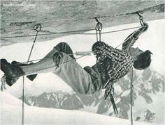 Interesting picture of Gaston Rebuffat, a well-known French alpinist, mountain guide, and writer.